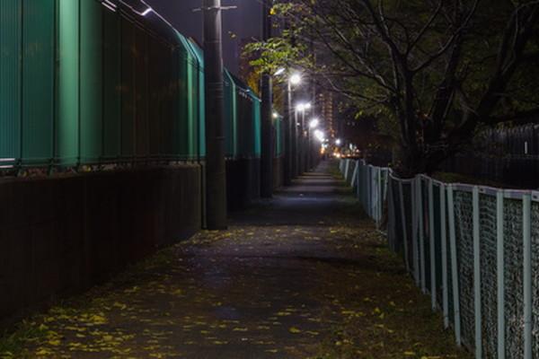 夜道のイメージ