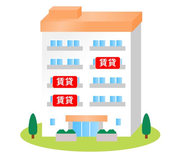 賃貸の多いマンションのイメージ
