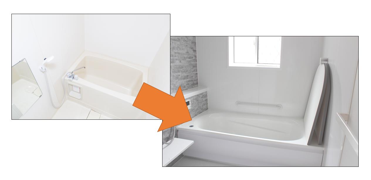 大きな浴槽のイメージ